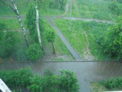 Ураганный ливень с градом