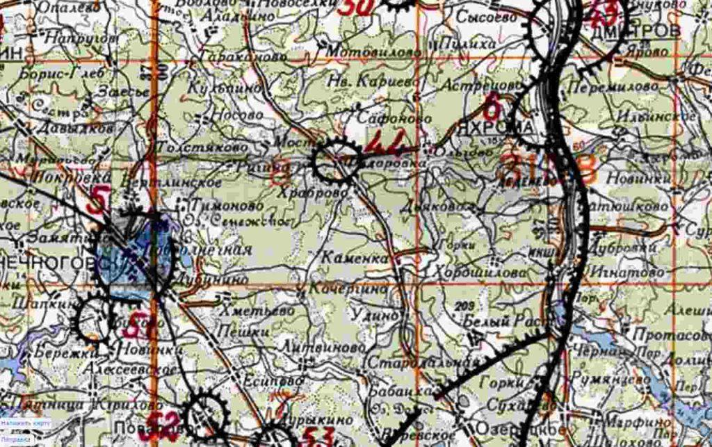 Карта 1941 года