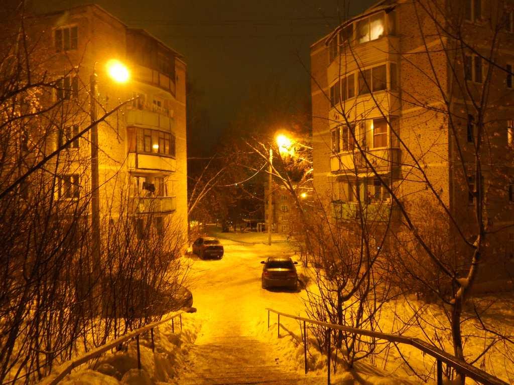 Яхрома ночью