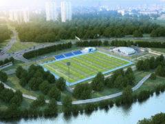 Подготовка Яхромского стадиона к ФИФА 2018