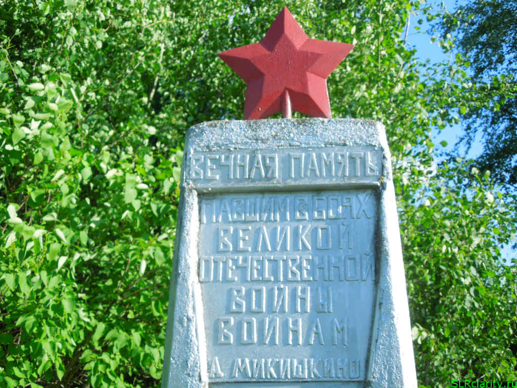 Памятник в деревни Микишкино
